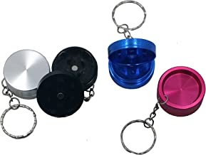 Assorted Colors Mini 2-Piece Aluminum Keychain Spice & Herb Grinder from Smoke Promos