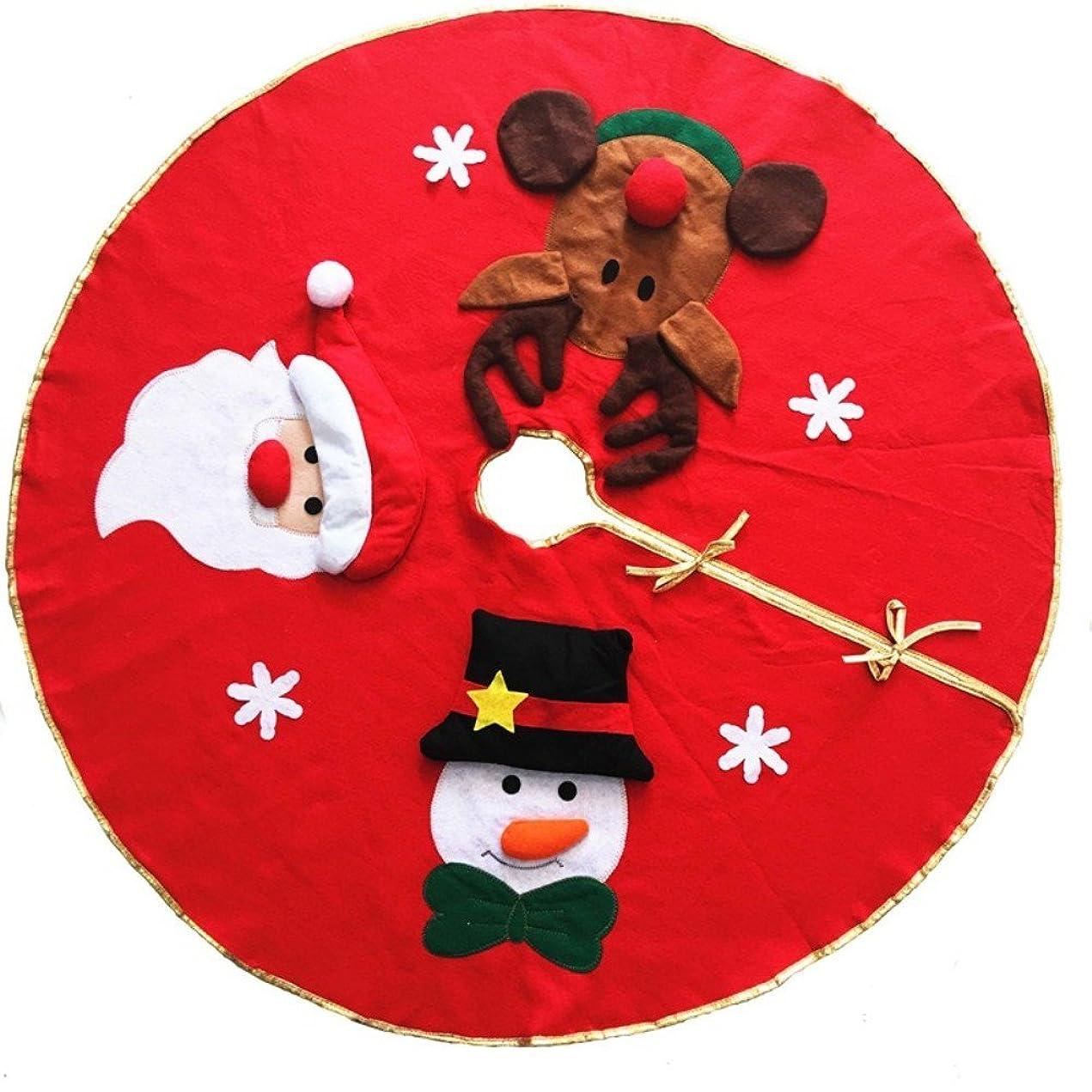 和解する絞る急降下Ungfu Mall ツリースカート クリスマス飾り 雪だるま?トナカイ?サンタ 下敷物 円形 クリスマスツリー 作る クリスマスプレゼント