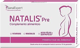 SanaExpert Natalis Pre, vitaminer vid barns önskan och tidig graviditet med 800 µg folsyra, quatrefolic, järn, månadspaket...