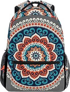 TIZORAX Mochila étnica Hippie Henna Mandala mochila mochila escolar bolsa de senderismo mochila de viaje