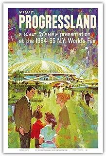 Visit Walt Disney's Progressland - 1964 New York World's Fair - Vintage World Travel Poster c.1960s - Master Art Print 12in x 18in