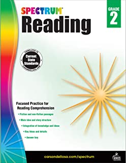Spectrum 2nd Grade Reading Workbook—State Standards for Reading Comprehension, Nonfiction Fiction Passages With Answer Key...