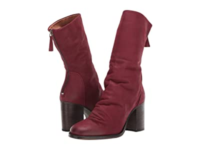 Free People Elle Block Heel Boot (Wine) Women