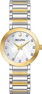 Bulova - Reloj Analógico para Mujer de Cuarzo con Correa en Acero Inoxidable 98P180