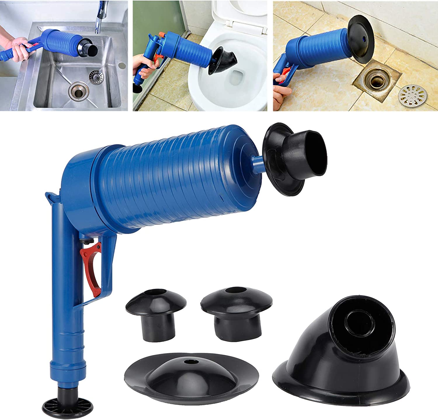 Toilet Plunger trend rank Max 87% OFF 4 Kinds Of Adapters Drain Remover for Clog Floor