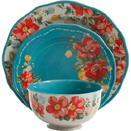 New 12 Pioneer Woman Heritage Floral Rag Balls Farmhouse Bowl Basket Fillers