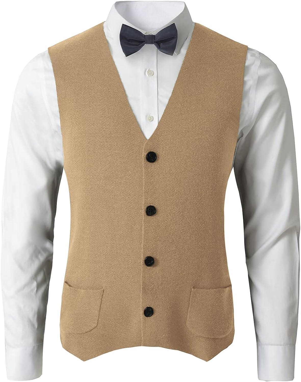 织礼 Men's Western Herringbone Quantity limited Suit Bl Sweater Wool Ranking TOP19 Vest