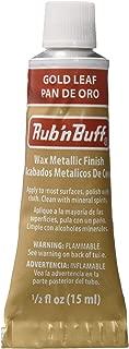 AMACO Rub 'n Buff Wax Metallic Finish, Gold Leaf, 0.5-Fluid Ounce