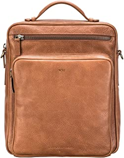 f2ee142e5ea Maxwell Scott Personalized Mens' Leather Backpack/Shoulder Bag - SantinoL  Camel