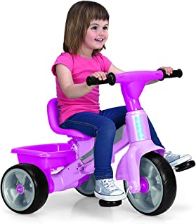 FEBER- Tryke Baby Plus Music Pink, Triciclo (Famosa