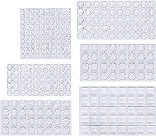 ソフトクッション ONUEMP戸当たりクッション 304粒 6サイズ粘着 ソフトクッション 透明・緩衝・防振・滑り止・キズ防止 食器棚粘着 半球形 丸型 角型ゴムクッション …