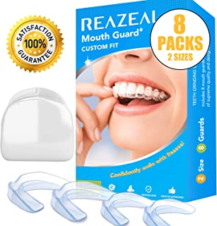 Mouth Guard for Grinding Teeth and Clenching Anti Grinding Teeth Custom Moldable Dental Night Guard Professional Dental Night Guards to Prevent Bruxism/Pack of 8