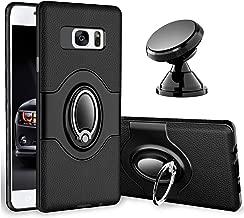 eSamcore Samsung Galaxy S7 Case Ring Holder Kickstand Cases + Dashboard Magnetic Phone Car Mount [Black]