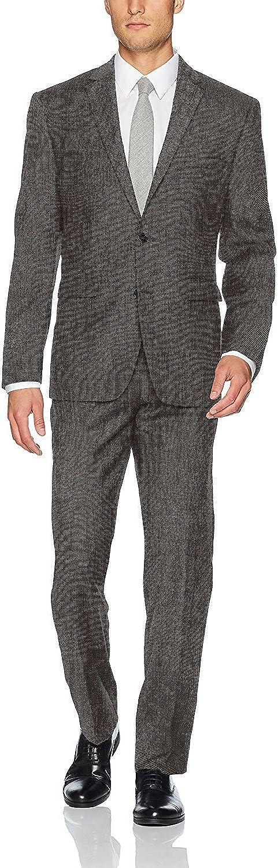 Vince Camuto Men's Slim Fit 100% Wool Neat Suit