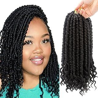 8 Packs Spring Senegalese Twist Crochet Braids Curl End Crochet Hair for Black Women Pre loop 12 Inch Bomb Twist Synthetic...