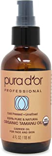 PURA D'OR Carrier Oil: Organic Tamanu Oil 4 oz USDA Certified Organic 100% Pure & Natural Moisturizer and Anti-Aging for F...