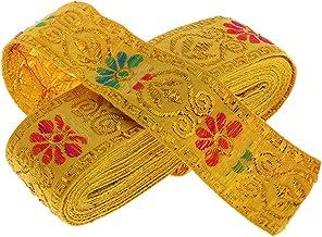 Baoblaze Jacquard Silk Ribbon Trim Decoration Traditional 7m for Crafts and Home Decor, Clothes, Bag, Curtain, Costume, He...