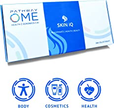 Pathway Genomics Skin iQ Home DNA Test - Gene-Based Personal Care Testing Kit for Glowing Skin - Discover Genetic Markers for Wrinkles, Collagen, Nutrition - Beauty, Health Assessment