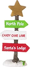 Darice Mini North Pole Directional Sign, Christmas, 2 x 4.38 inches, Multicolor