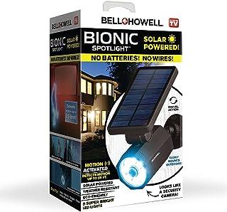 Bell+Howell 2963 Bionic Spotlight Solar Spot 25 Feet Motion Sensor, Sun Panels, Waterproof Frost Resistant Patio, Yard and...
