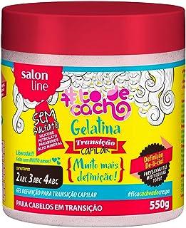 Gelatina #Tô de Cacho, Transição Capilar Liberado, Salon Line, 550 gr