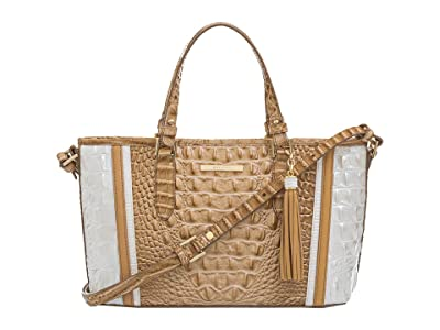Brahmin Mini Asher Enchant Satchel (Shortbread) Handbags