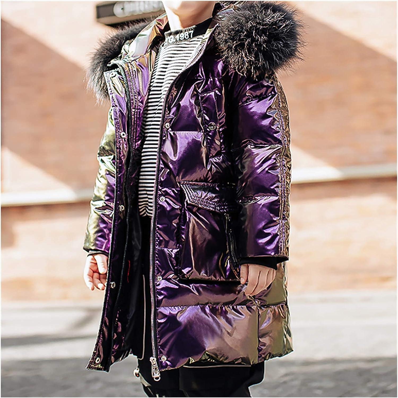 ZRJ Soldering Boys Thicken Parkas Winter Jacket Kids Max 64% OFF Outerwear Hooded Heav