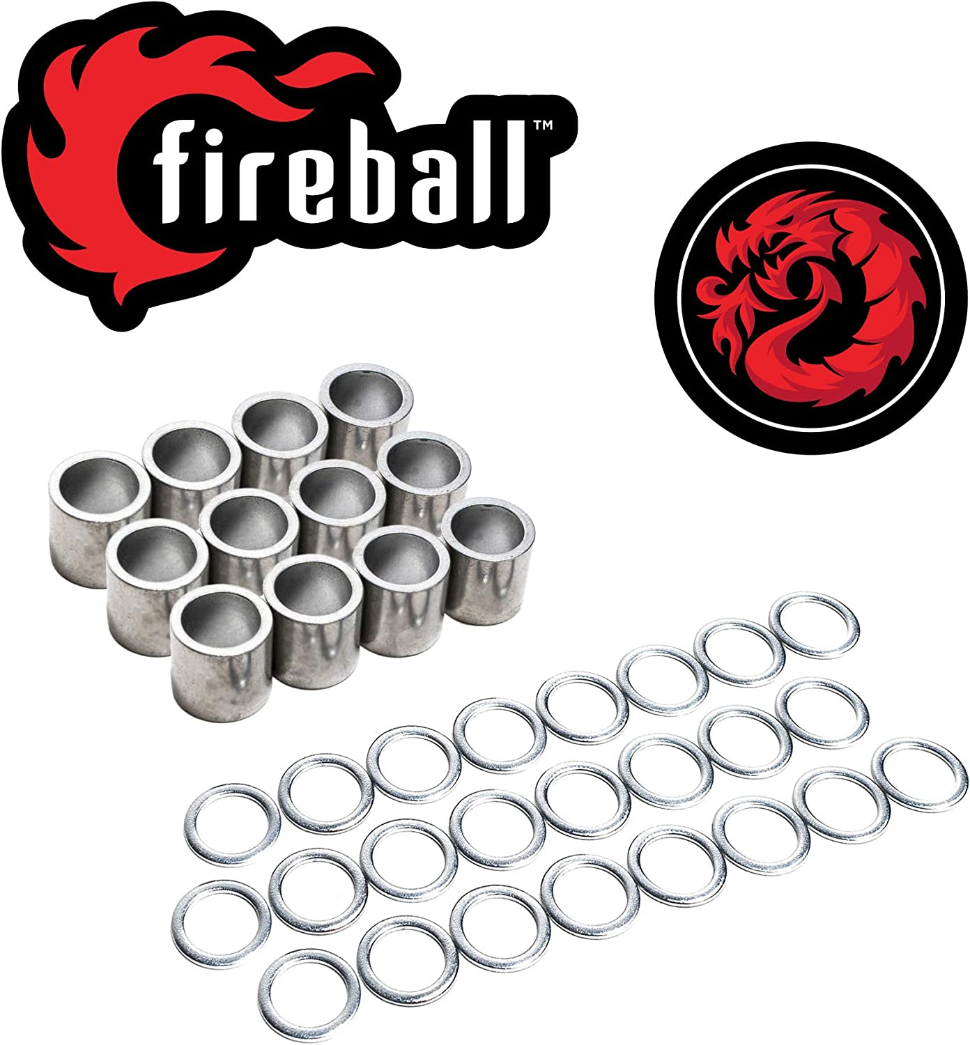 Super special price Fireball Dragon Spacers and for Max 64% OFF Longboar Skateboards Washers