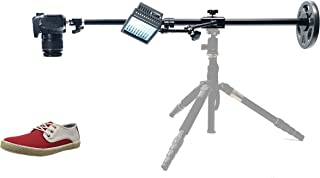 Glide Gear OH80 Camera / Smartphone Photo Video Overhead Adjustable Pole Tripod Stand w/ Friction Arm & LED Light