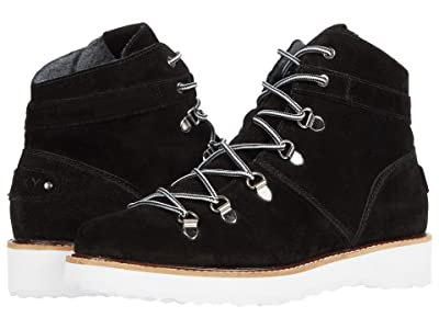 Roxy Spencir Leather Boots (Black) Women