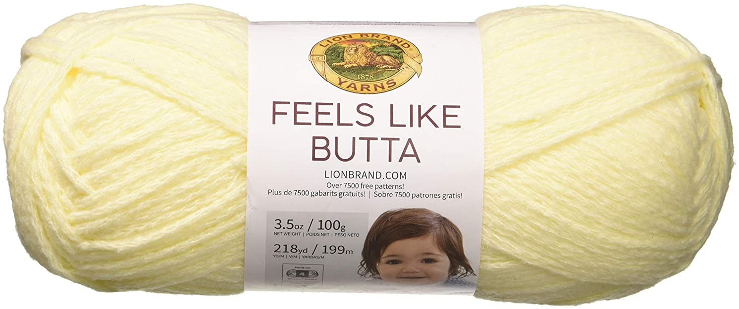 Lion Brand Yarn 215-158 Feels Like Butta Yarn, Lemon