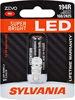 SYLVANIA - 194 T10 W5W ZEVO LED Red Bulb - Bright LED Bulb, Ideal for Interior Lighting (Contains 1 Bulb)