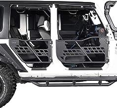 Hooke Road Jeep Wrangler JK Half Doors Front & Rear Tube Doors for 2007-2018 Jeep Wrangler JK Unlimited 4-Door