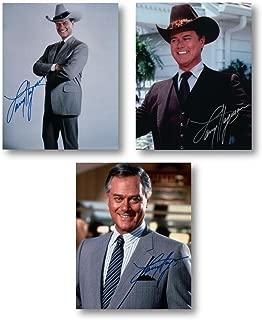 Larry Hagman Signed Autographed 8X10 Three Photo Lot Dalls J.R. Ewing A w/COAs