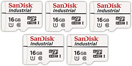 SanDisk Industrial 16GB Micro SD Memory Card Class 10 UHS-I MicroSDHC (Bulk 5 Pack) in Cases (SDSDQAF3-016G-I) Bundle with...