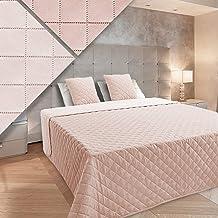 Dwustronna narzuta na łóżko 220 x 240 + 2 poszewki na poduszkę Vigo jasny, łososiowy, jasny beż, ecru 10