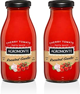 Agromonte Authentic Italian Cherry Tomato Pasta Sauce (Roasted Garlic)- Taste of Italy Gourmet Foodie and Chef Gift - Certified Kosher, Gluten-Free, All Natural (2 pack)