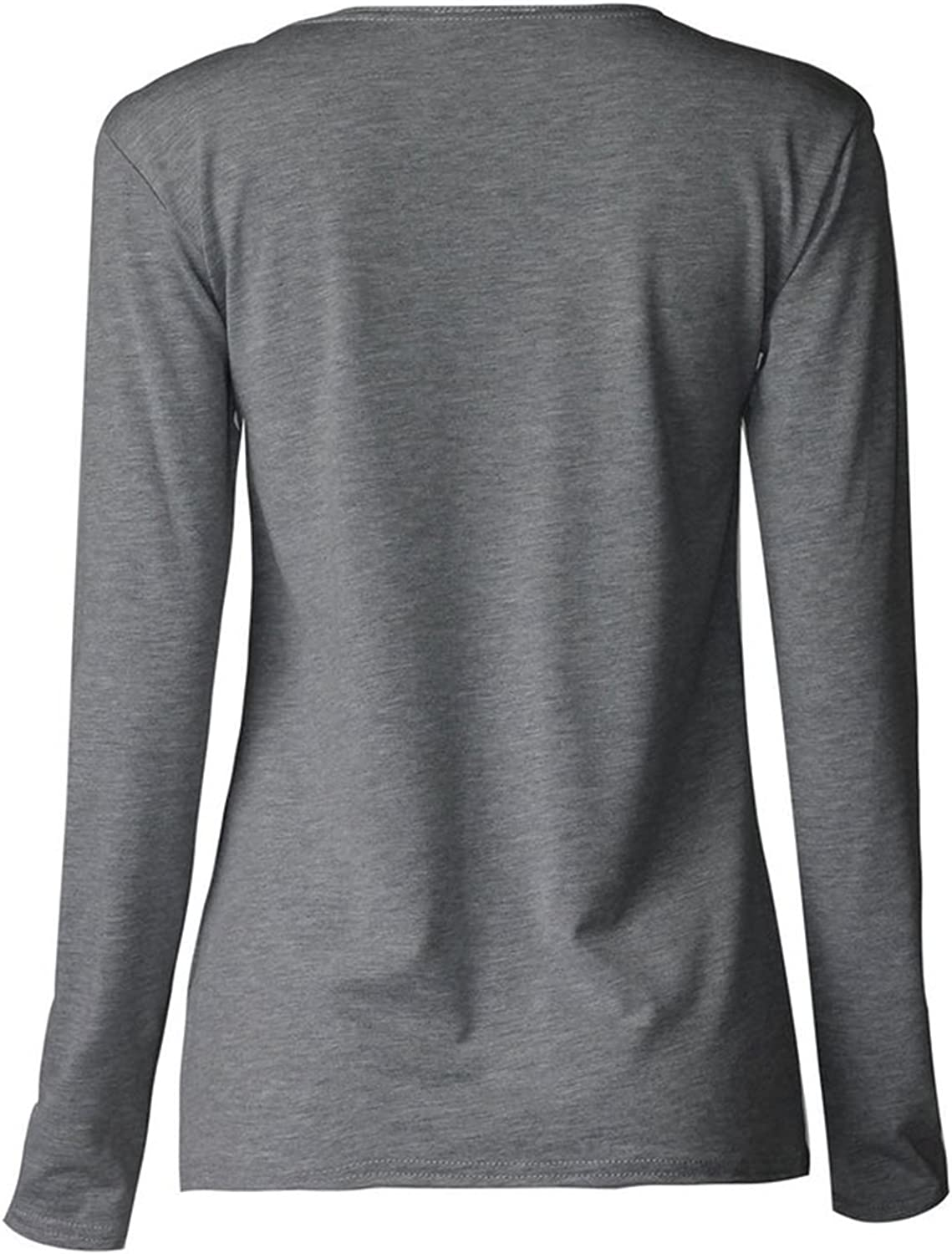 Girls Plain Long Sleeves Tee Scoop Neck Stretchy T-Shirt Top