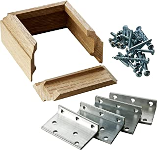L-Bracket Post Fasteners, Oak