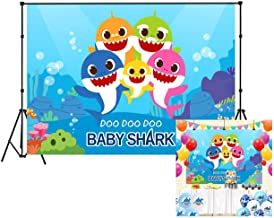 LB Undersea Shark Backdrop 7x5ft Vinyl Underwater World Photo Background for Kids Children Baby Shower Birthday Party Pictures Photo Booth Studio Props