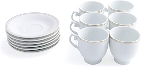 Royalford Cup & Saucer 6Pcs, RF4119CS, White