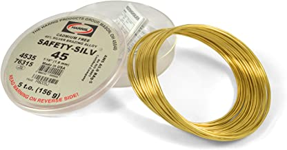 Harris Safety-Silv 45% 1/16 Silver Solder Brazing Alloy 5 Troy Ounce, 76315 4535