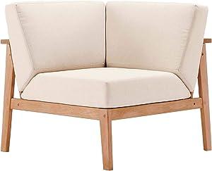 Modway EEI-3680-NAT-TAU Sedona, Corner Chair, Natural Taupe