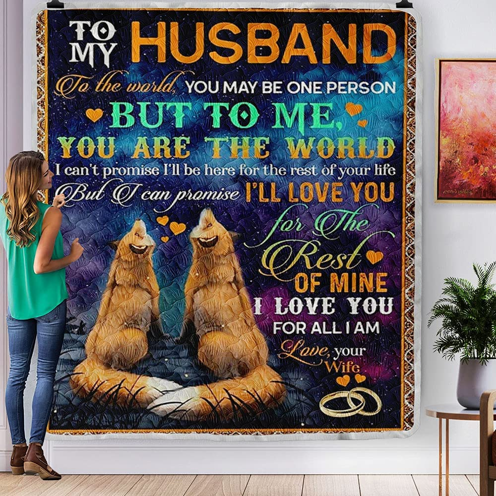 Personalized to My Husband The World Be May sale Person You Qu Outstanding One