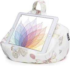iPad Pillow & Tablet Stand - Securely Holds Any Size Tablet, eReader or Book Upto 12.9 inches, Hands Free Comfort at Any Angle on Any Surface - Butterfly Cream, by iBeani