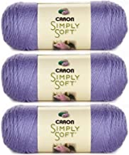 Caron Bulk Buy Simply Soft Yarn Solids (3-Pack) Lavender Blue H97003-9756