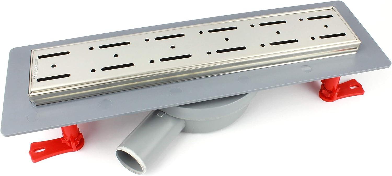 MKK? Line Shower Drain Stainless Steel Siphon 360° Pivoting Horizontal