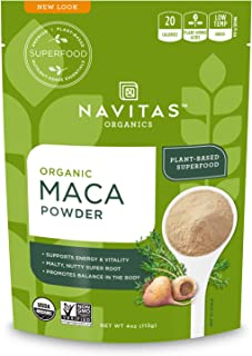 Navitas Organics Maca Powder, 4 oz. Bag — Organic, Non-GMO, Low Temp-Dried, Gluten-Free