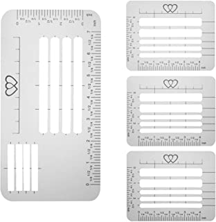 Meikeer 4 Pcs Envelope Guide Stencil Templates for Wide Range of Envelopes, Sewing, Thank You Card, Scrapbooking Template ...