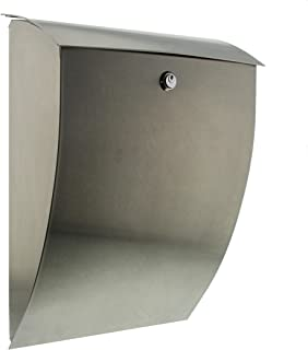 Burg Wächter Percasa Dual Capacity Luxury Stainless Steel Post Box Letter Box Mail Box, 3843 Es